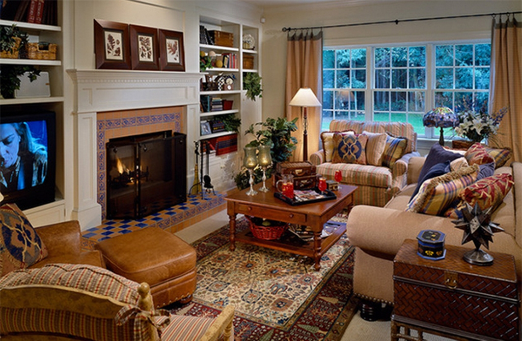 Image of: Country Living Room Ideas Retro