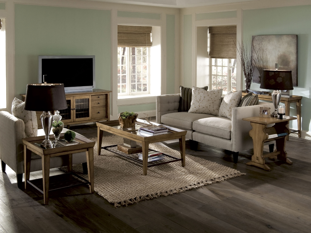 Image of: Country Living Room Simple