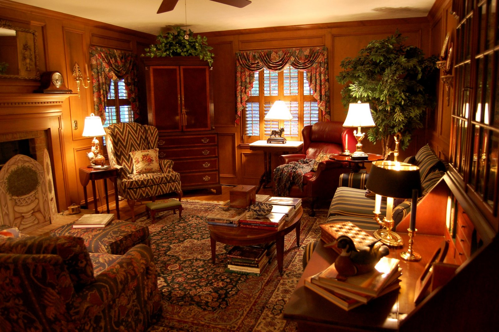 Image of: Country Living Room Vintage