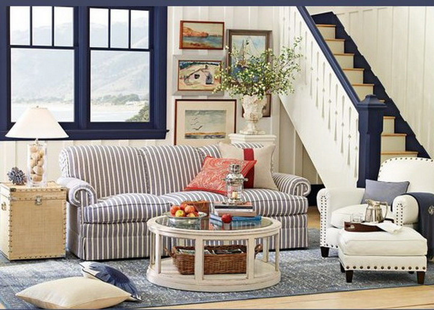 Image of: Country Style Living Room Design