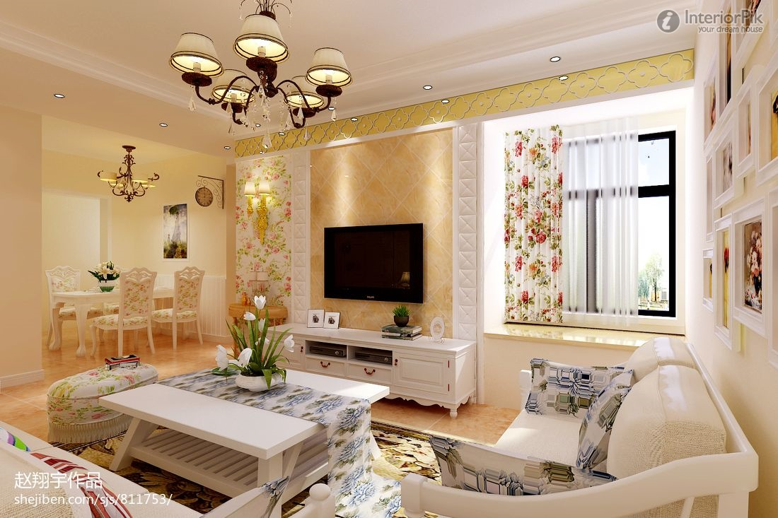 Image of: Country Style Living Room Elegant