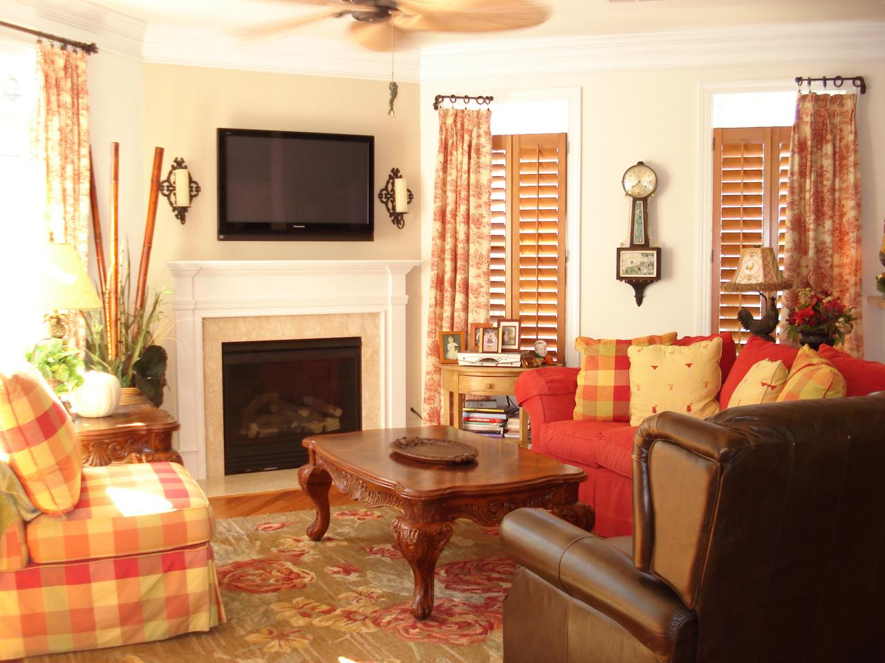 Image of: Country Style Living Room Ideas