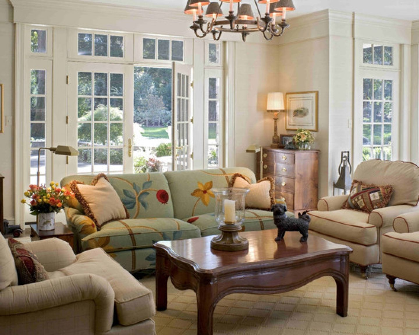 Image of: Country Style Living Room Interior
