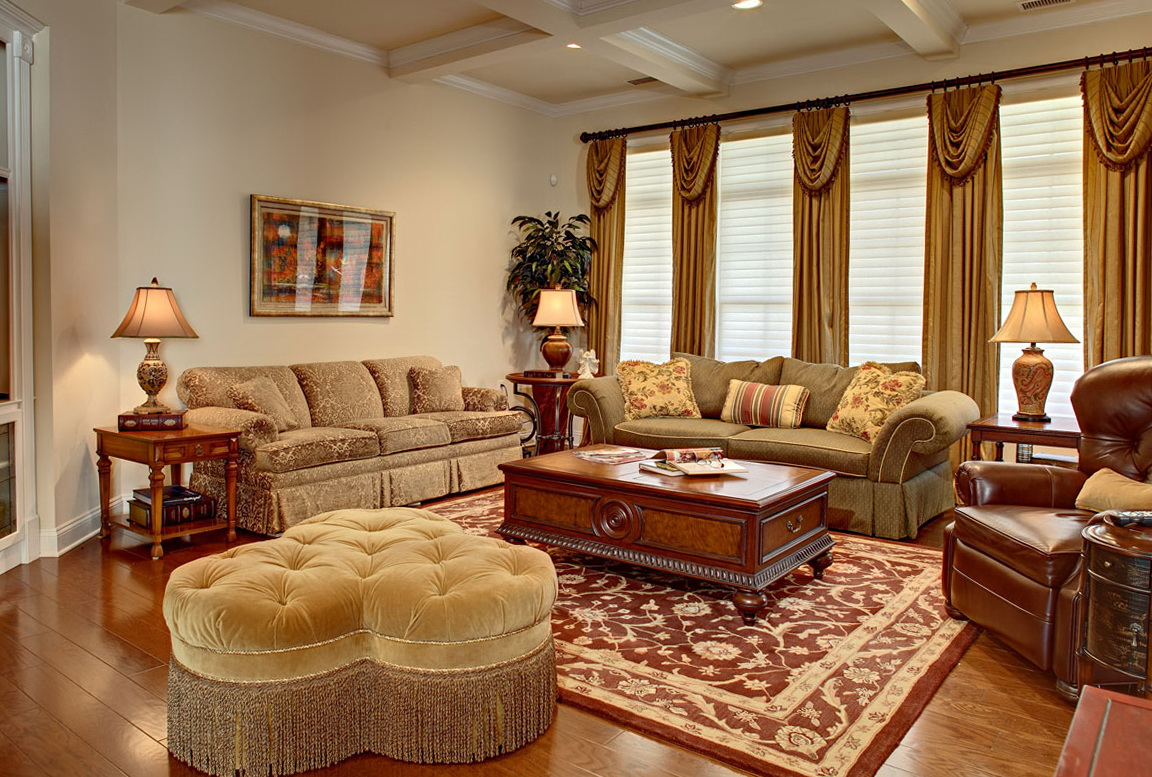 Image of: Country Style Living Room Vintage