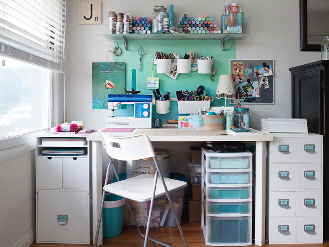 Image of: Craft Room Storage Ideas for Small Spaces