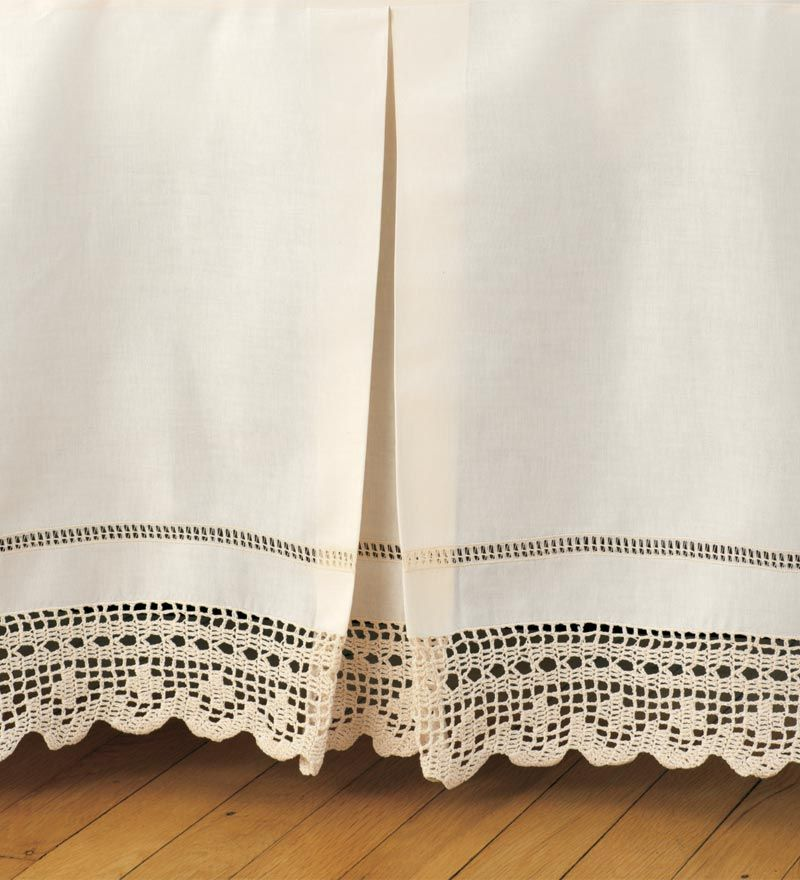 Image of: Crochet Bed Skirt Fabric
