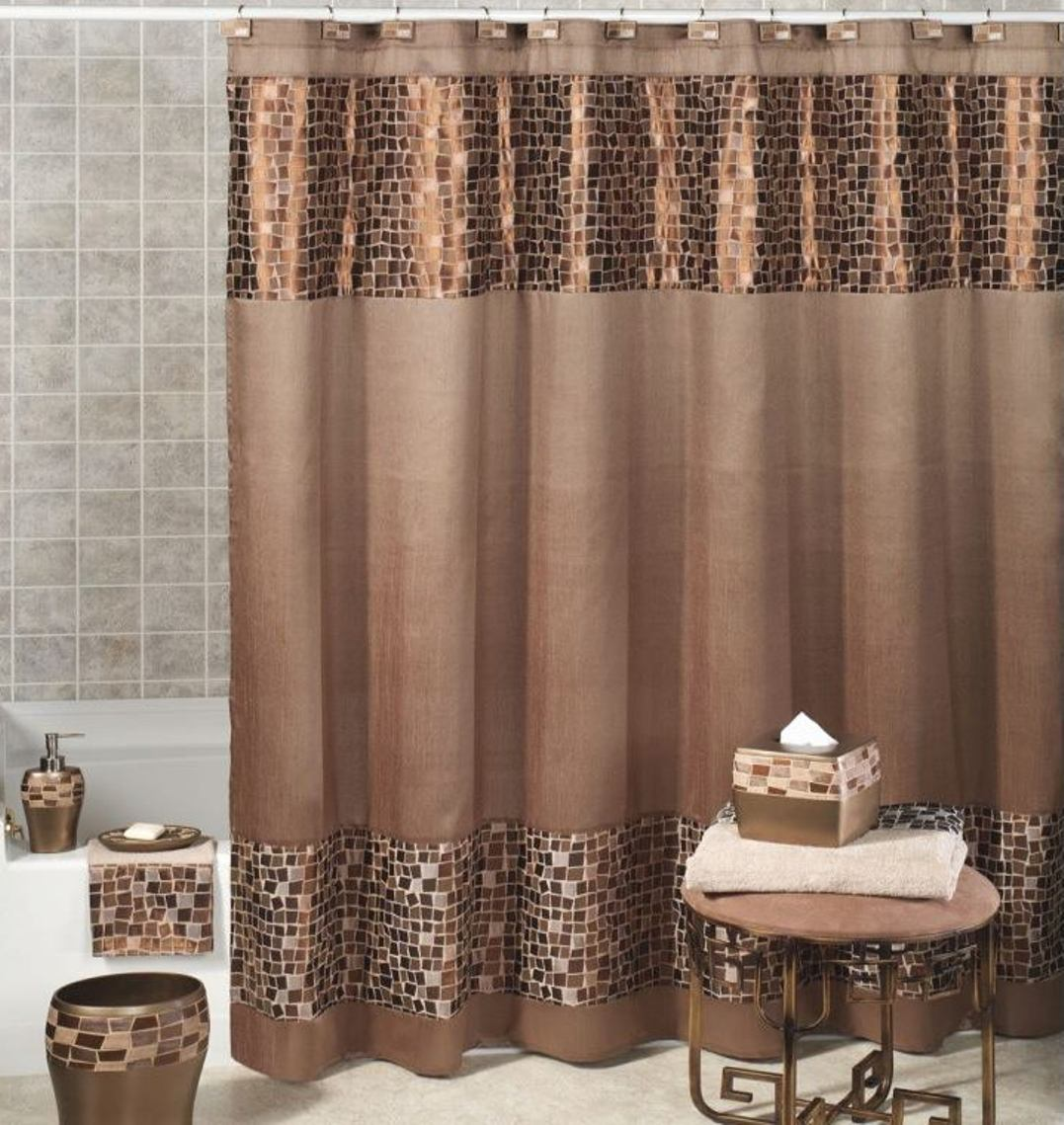 Image of: Curtain Accessories Brown