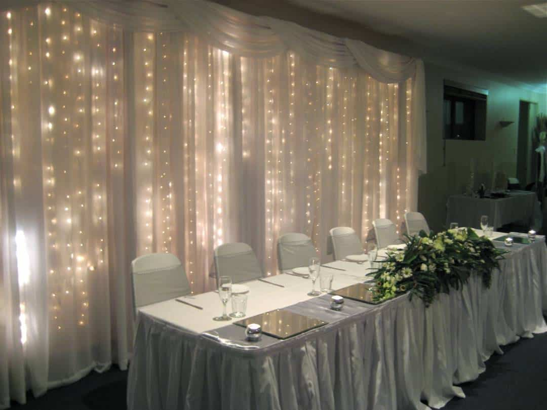 Image of: Curtain Backdrop Beautiful