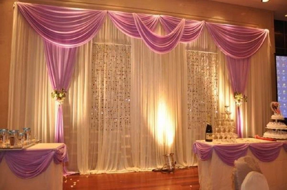 Image of: Curtain Backdrop Romance