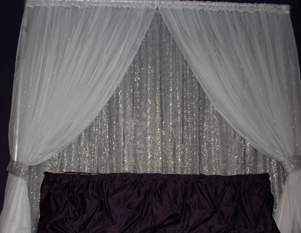 Image of: Curtain Backdrop Silver