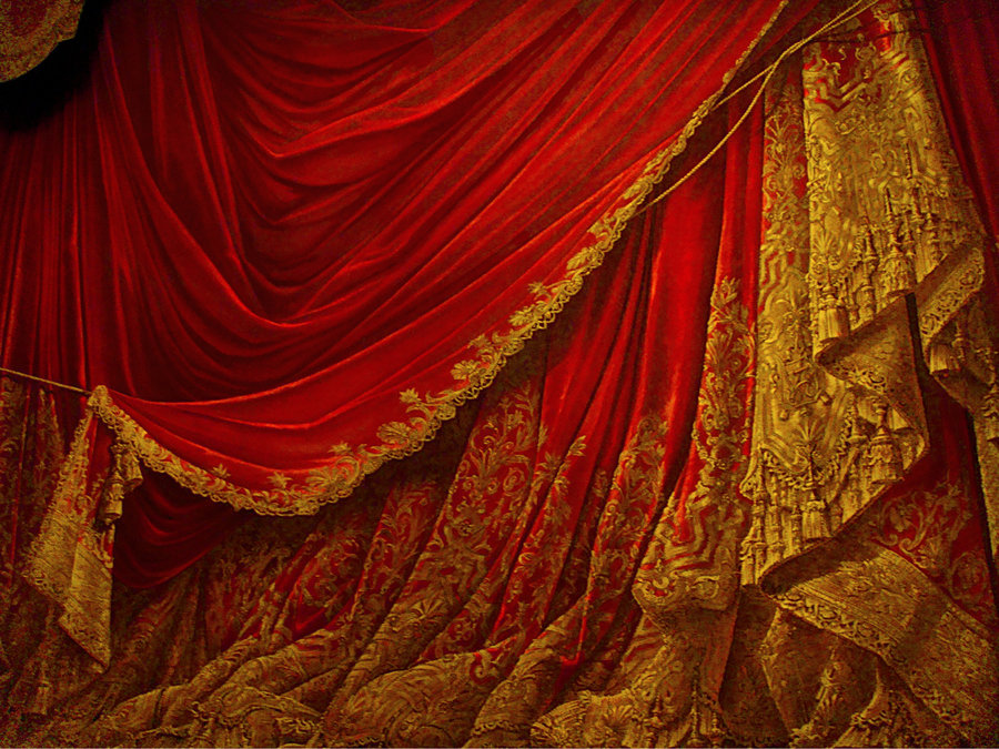 Image of: Curtain Backdrop Stage