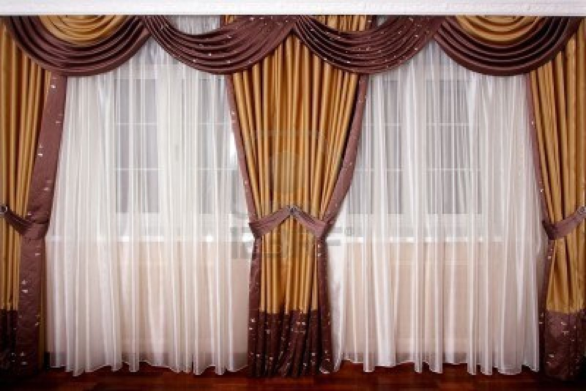 Image of: Curtain Designs Gold