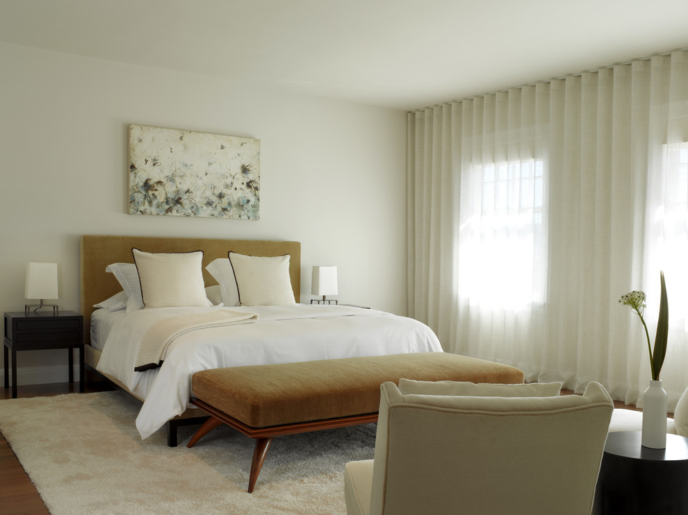 Image of: Curtain Headboard Modern