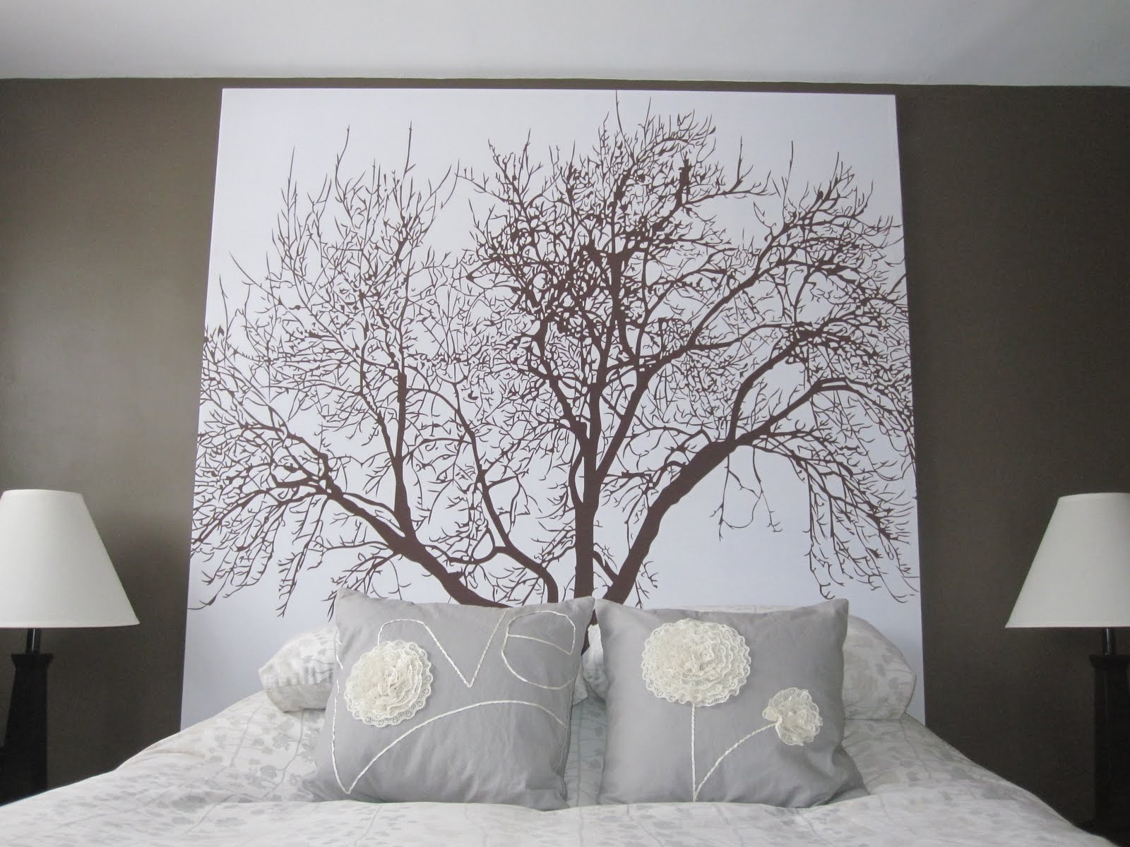 Image of: Curtain Headboard Nature