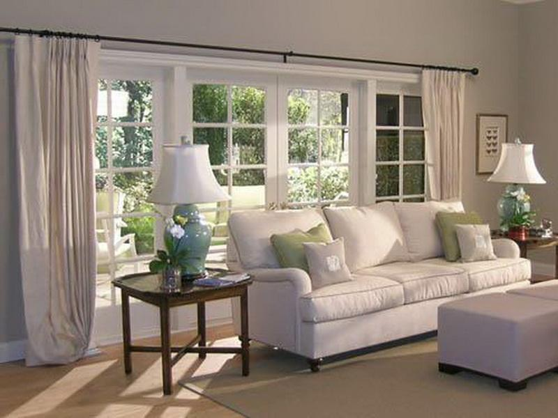 Image of: Curtain Ideas For Living Room White
