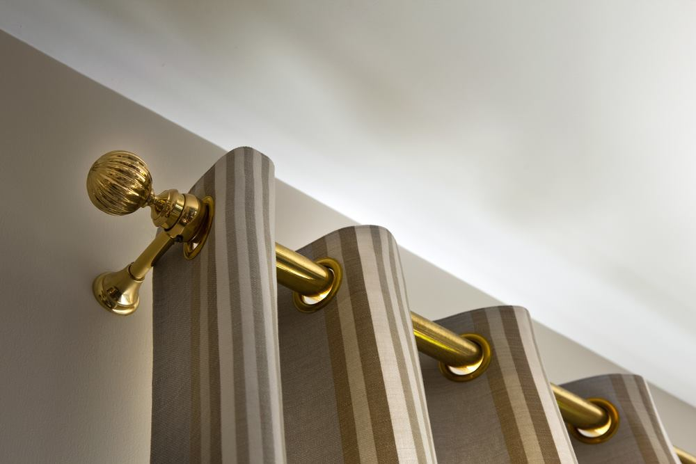 Image of: Curtain Rod Ends Gold