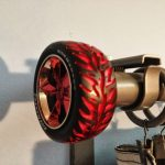 Curtain Rod Ends Red