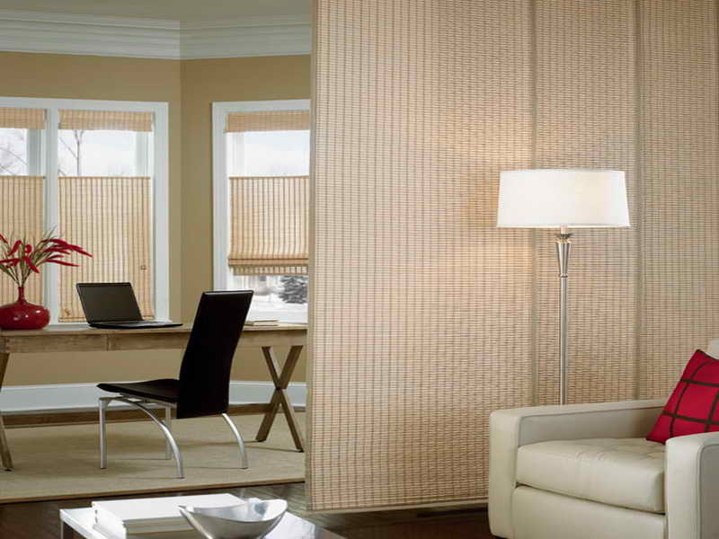 Image of: Curtain Room Divider Bamboo