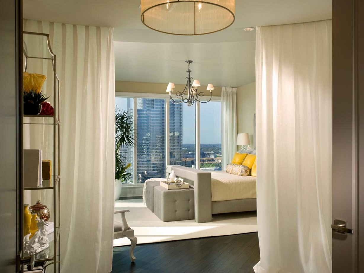 Image of: Curtain Room Divider Designs