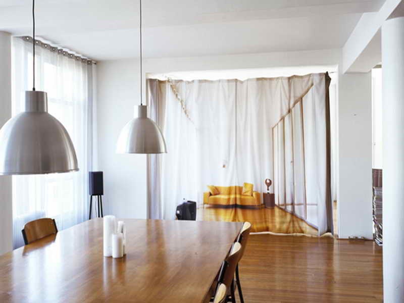 Image of: Curtain Room Divider Ideas