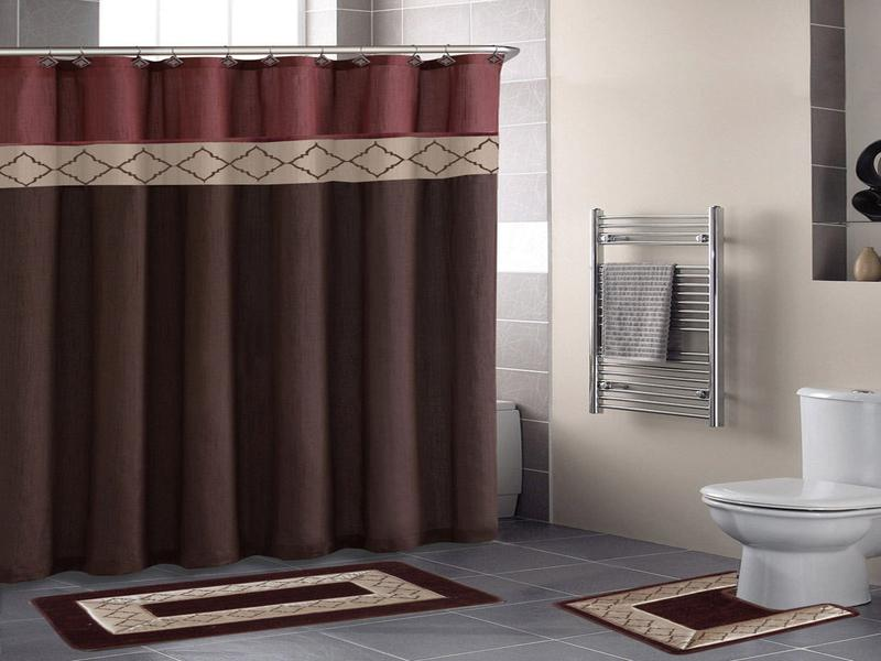 Image of: Curtain Set Bathroom