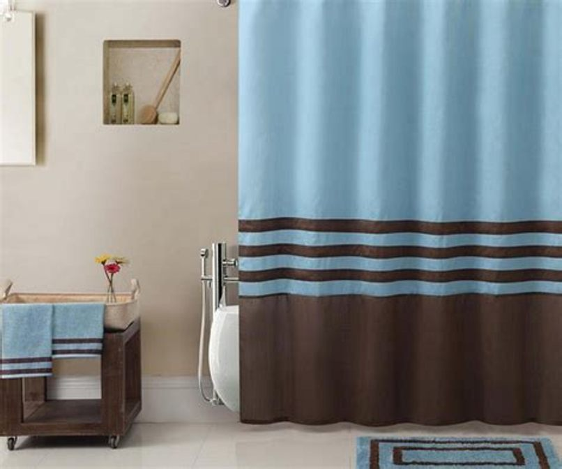 Image of: Curtain Set Blue