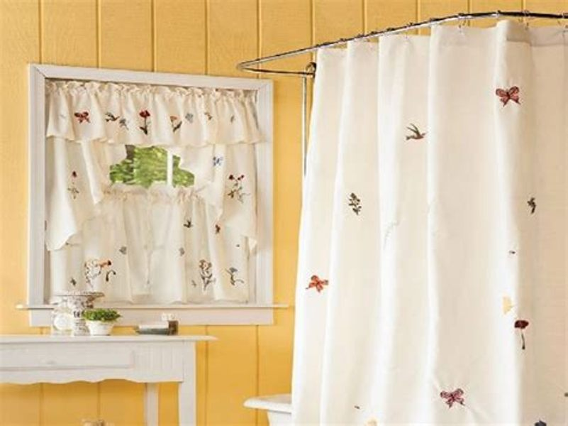 Image of: Curtain Set White