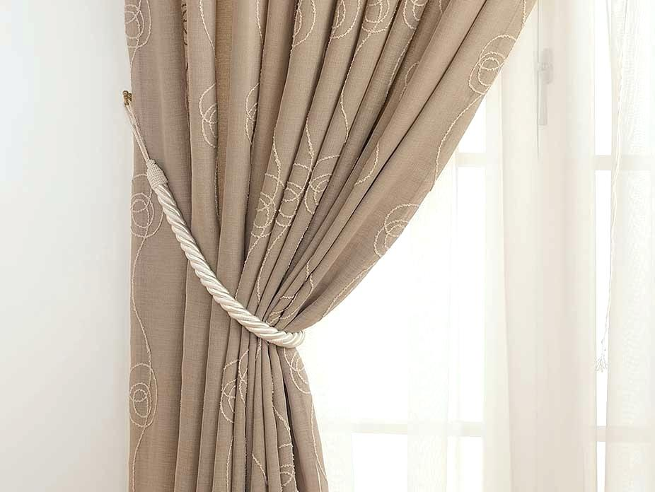 Image of: Curtain Tiebacks Cream