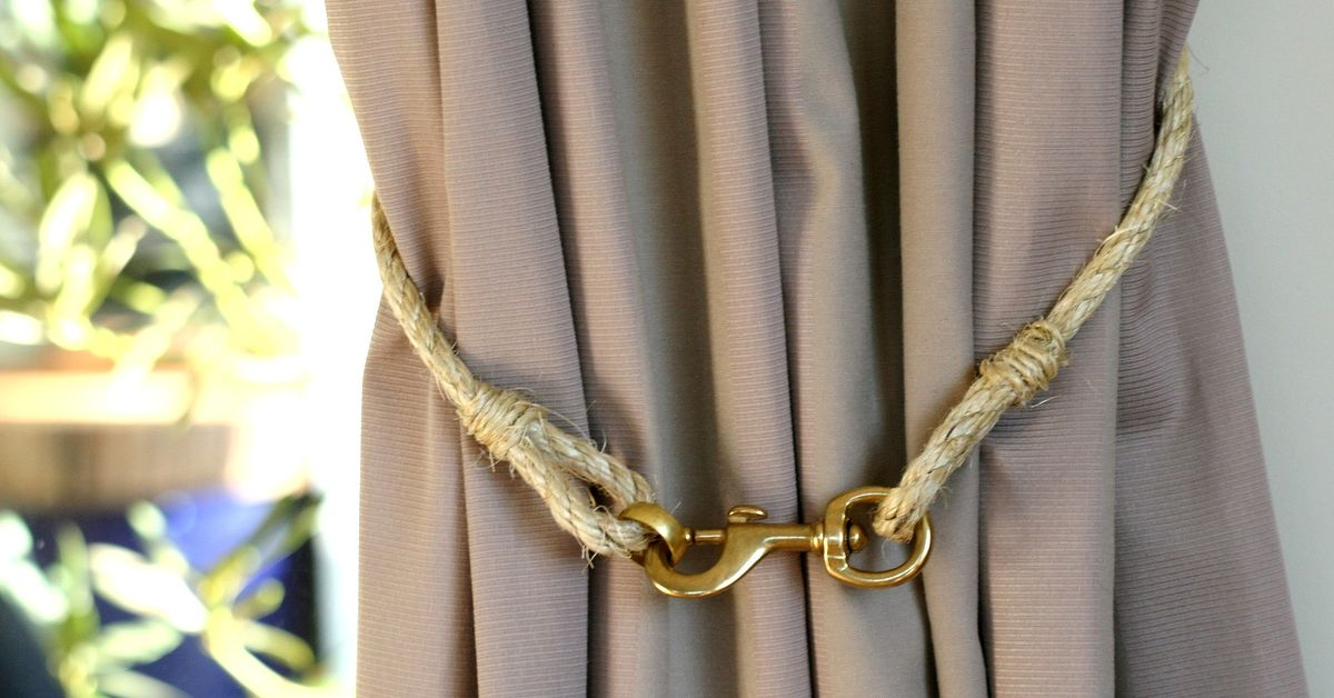 Image of: Curtain Tiebacks Outdoor