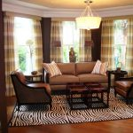 Curtains Living Room Brown