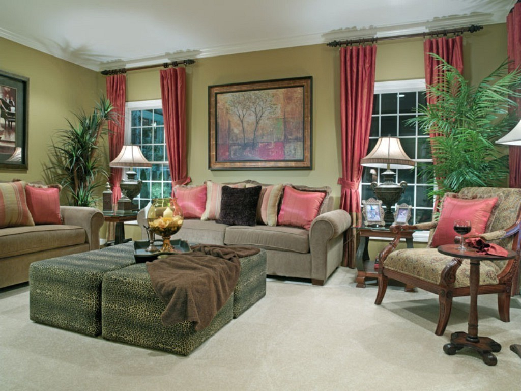 Image of: Curtains Living Room Decorating