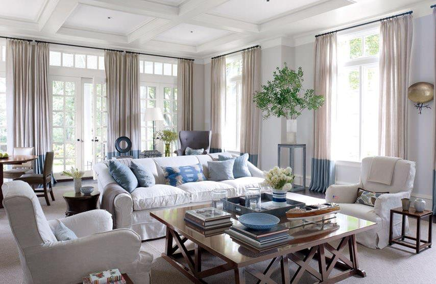 Image of: Curtains Living Room Design