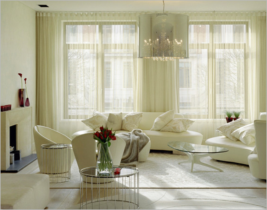 Image of: Curtains Living Room Simple