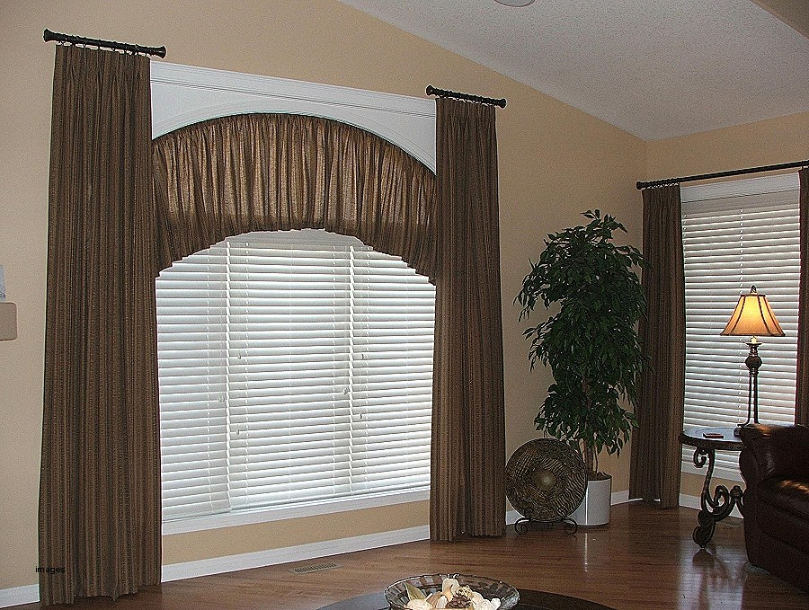 Curved Window Curtain Rod Brown