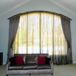 Curved Window Curtain Rod Large