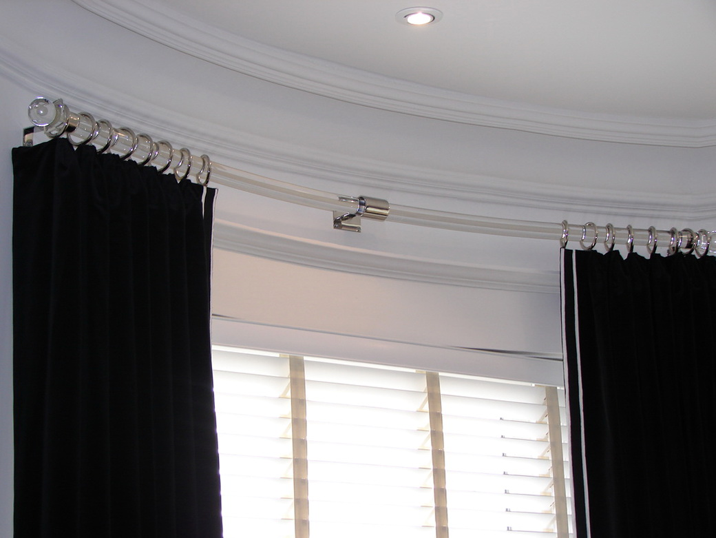 Curved Window Curtain Rod Modern
