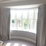 Curved Window Curtain Rod White
