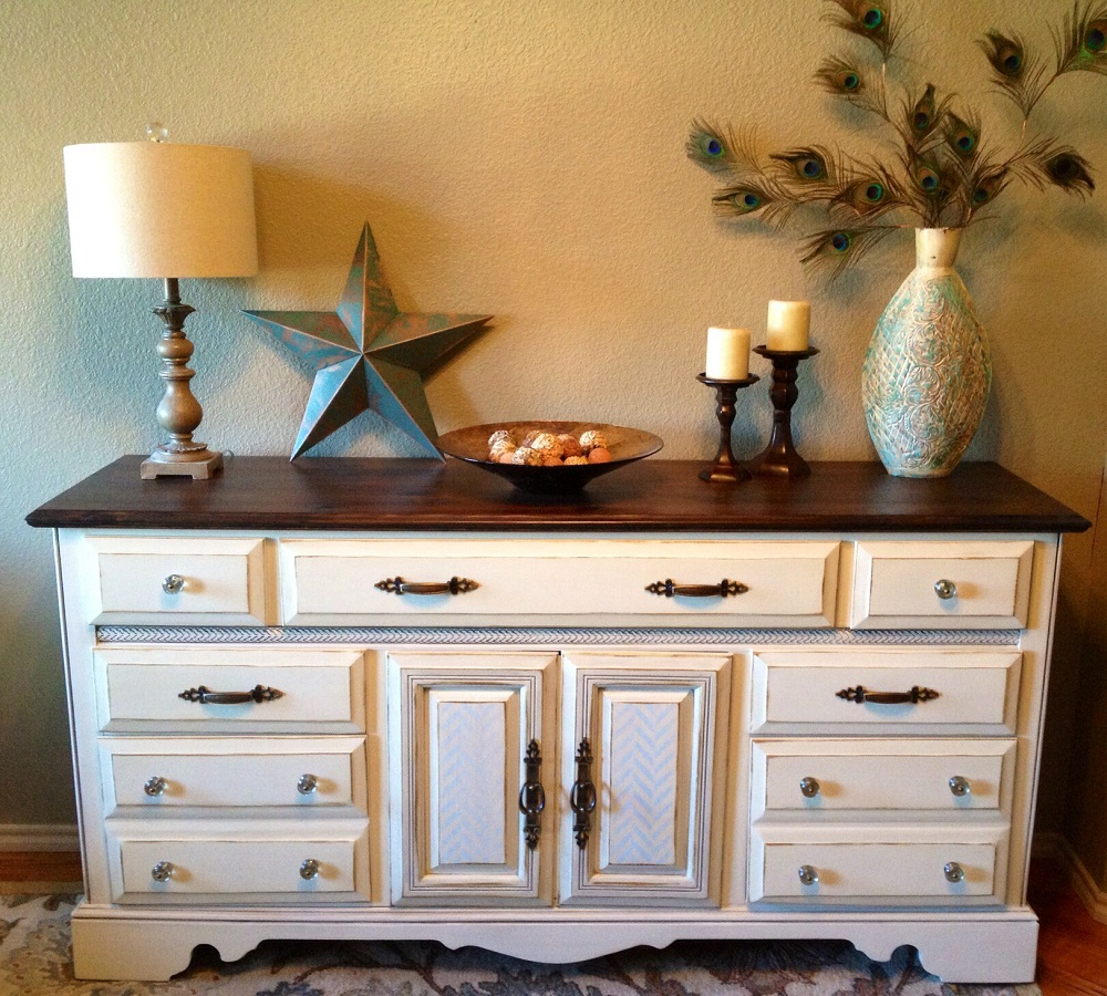 Image of: Cute Antique White Dresser
