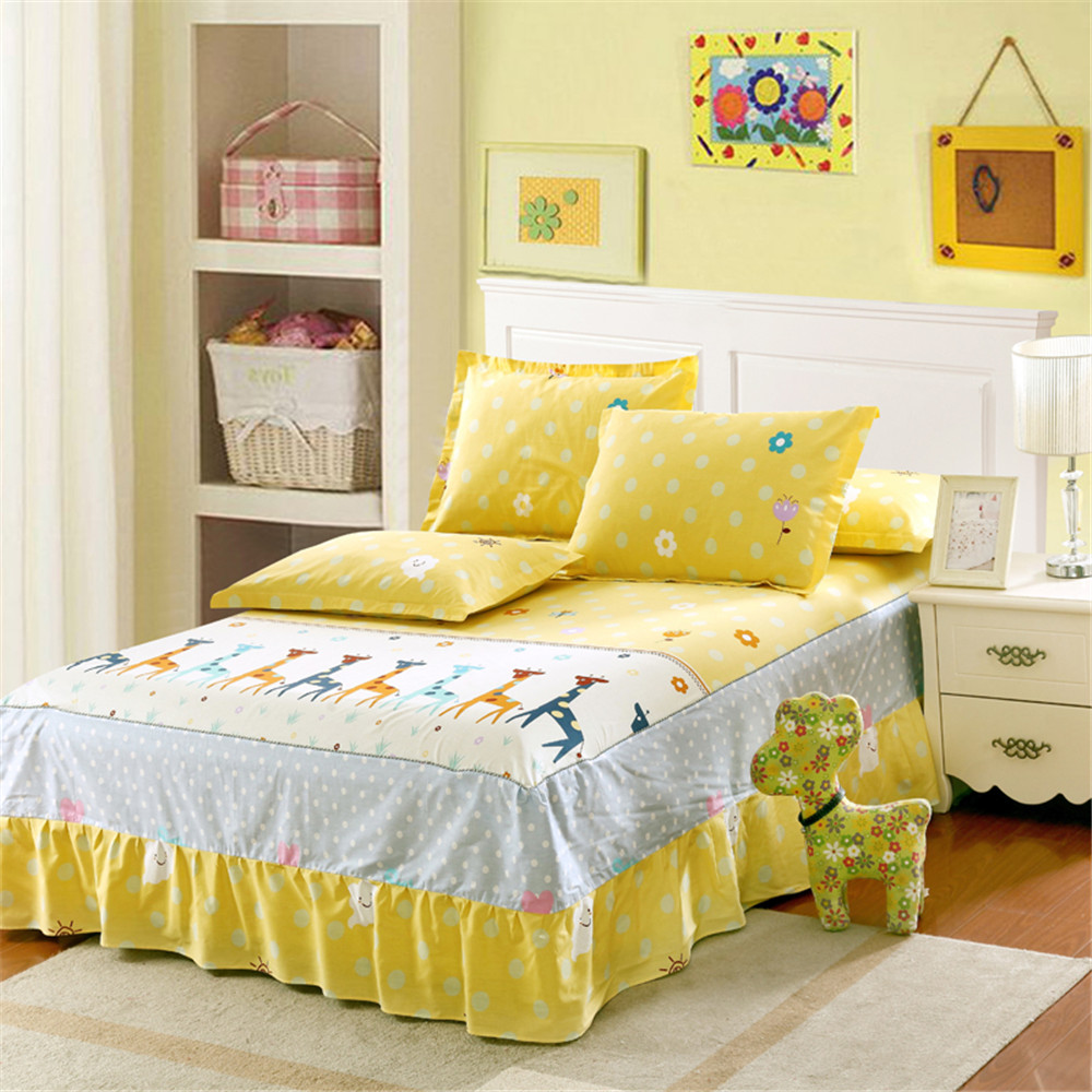 Image of: Cute Yellow Bed Skirt