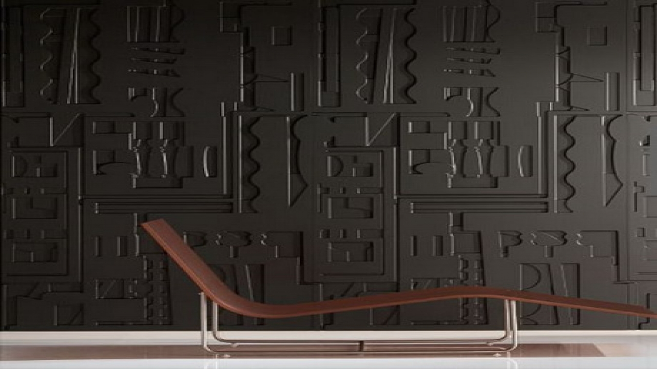 Image of: Dark Stainless Steel Wall Panels