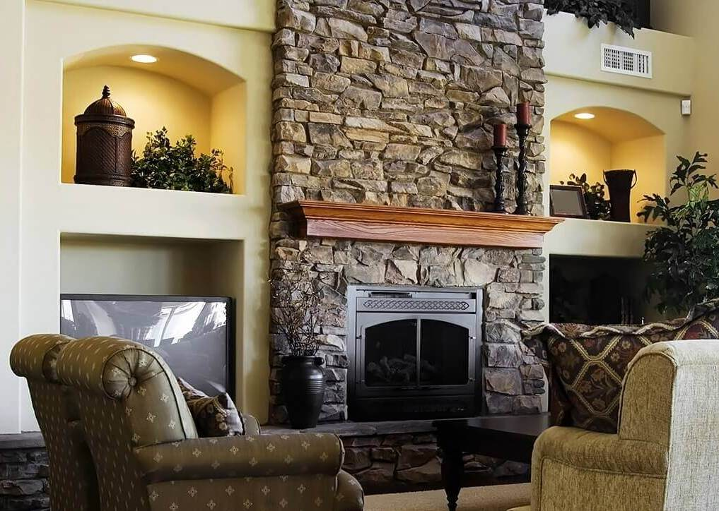 Image of: Decorating a Living Room Fireplace