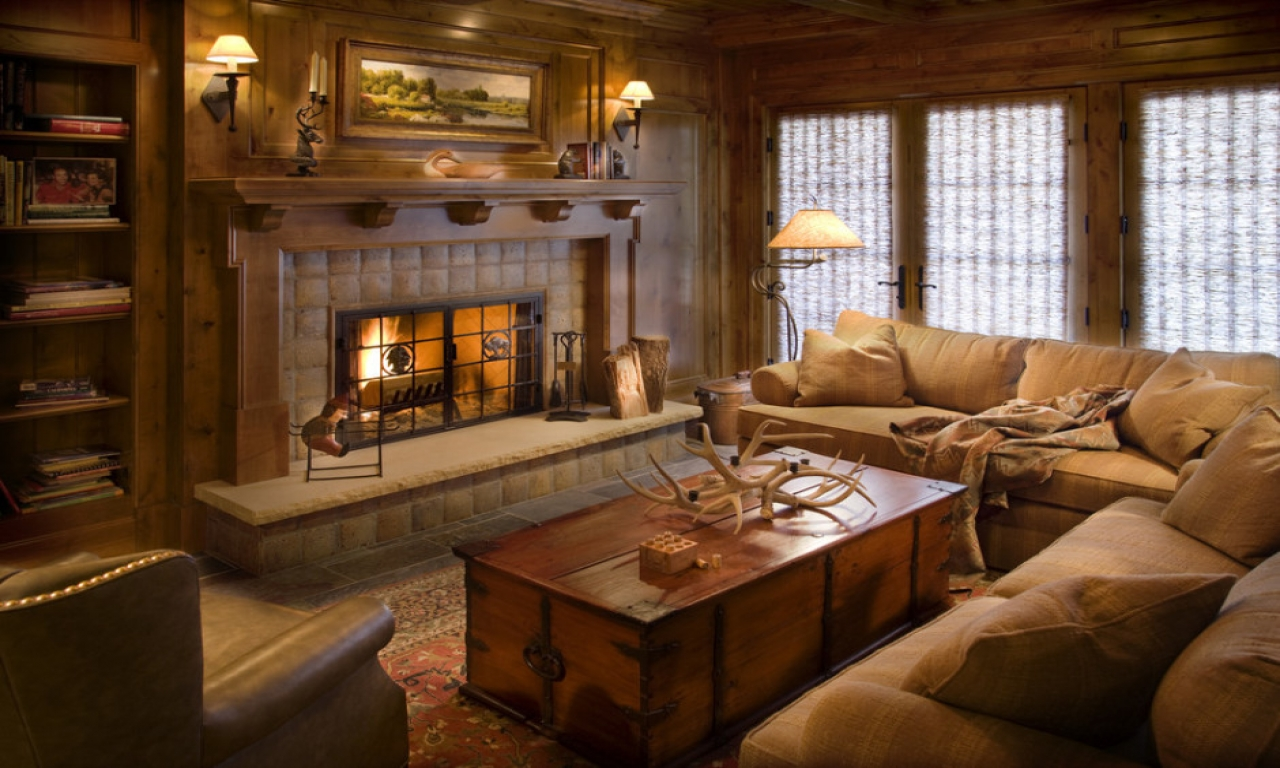 Image of: Decorating a Living Room Rustic