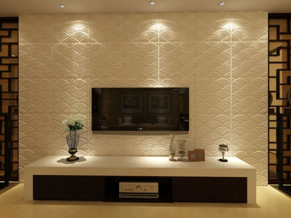Image of: Decorative Modern Wall Panels with Light