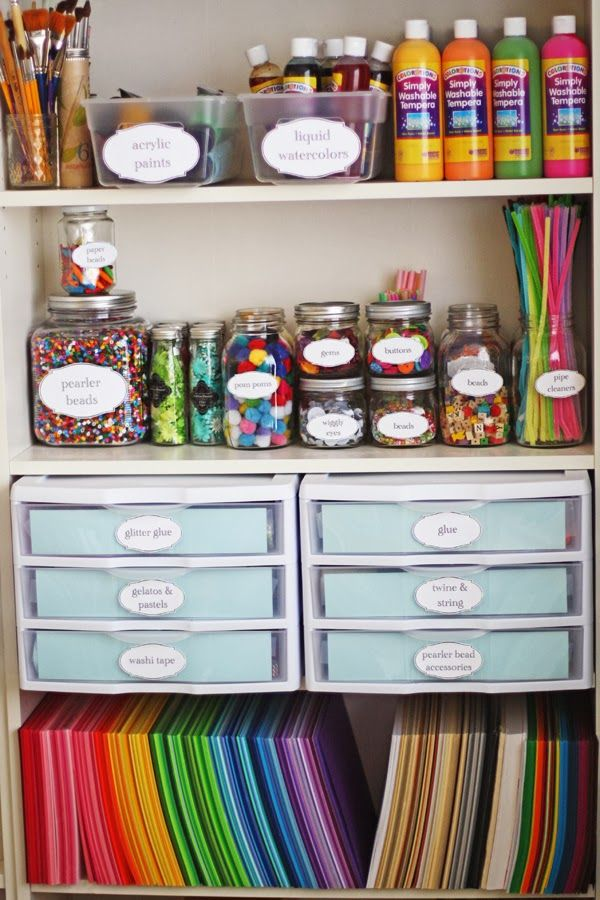 Design Art Supply Storage Ideas