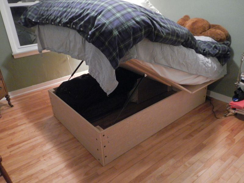 Image of: Modern Bed Frame With Storage