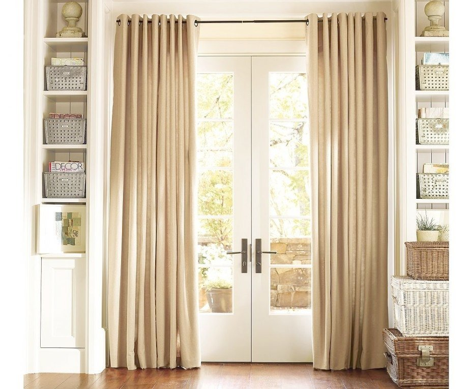Image of: Door Curtain Panel Simple