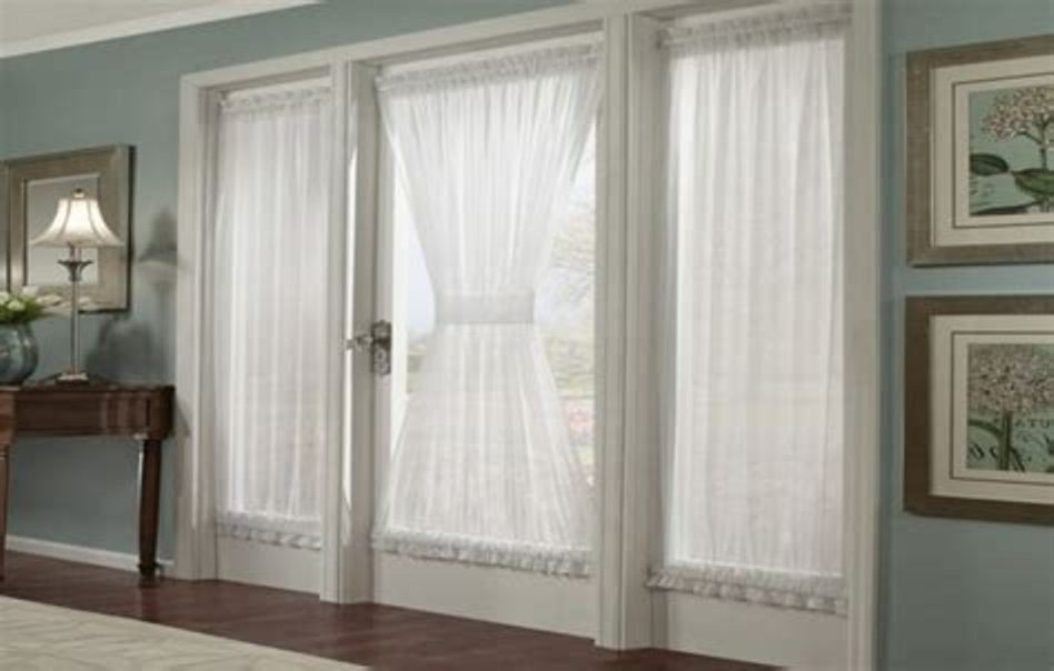 Image of: Door Curtain Panel White