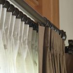 Double Traverse Curtain Rod Brown