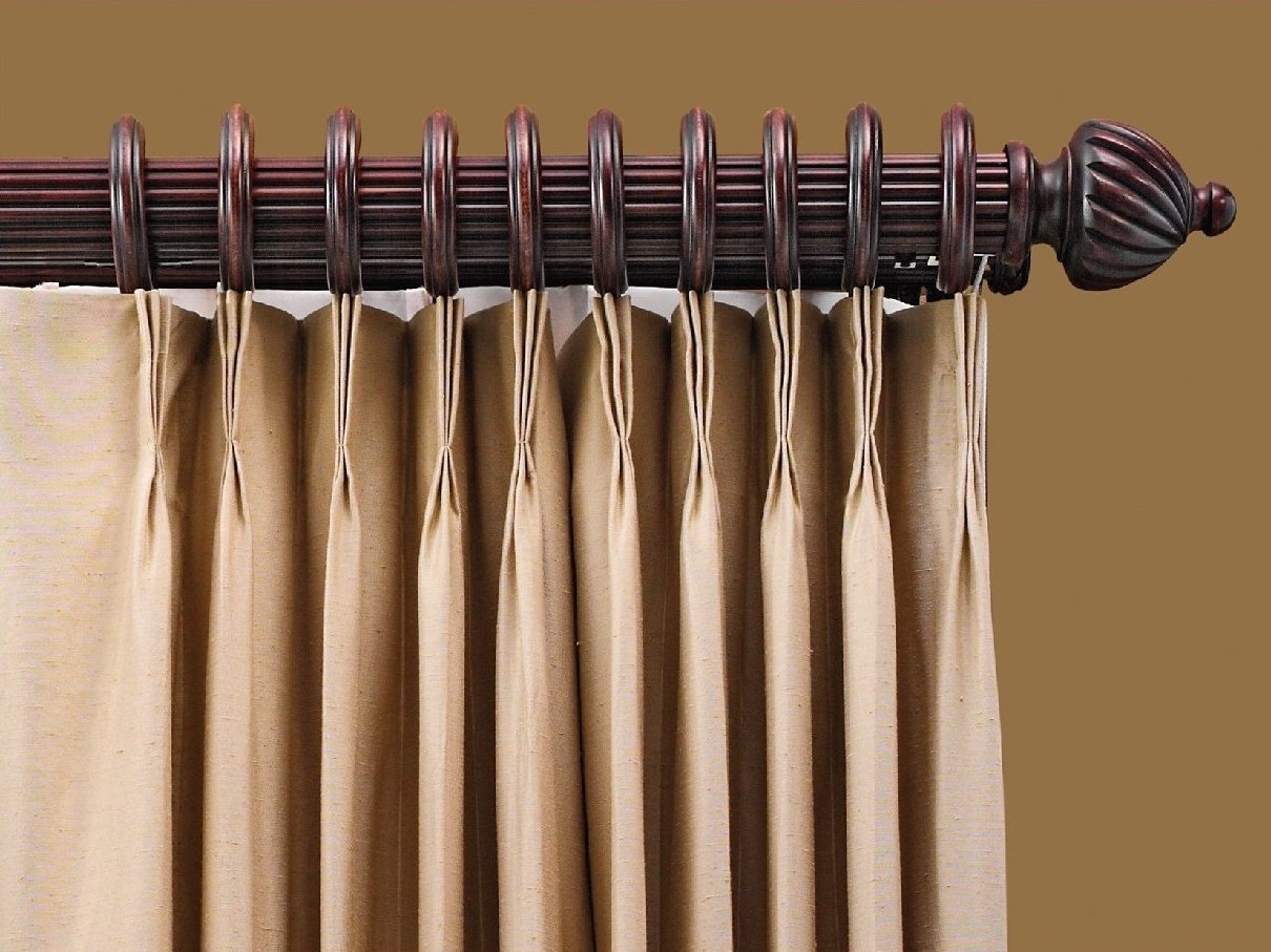 Image of: Double Traverse Curtain Rod Decor