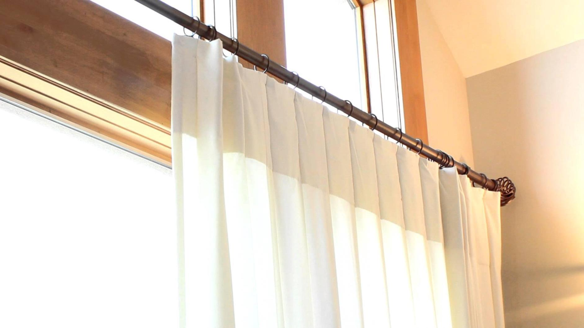 Image of: Double Traverse Curtain Rod Hardware